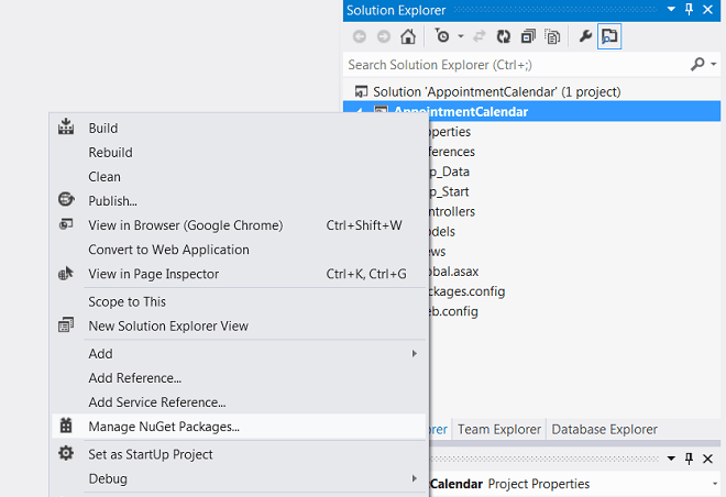 7 Steps To Appointment Calendar Template in ASP NET MVC5