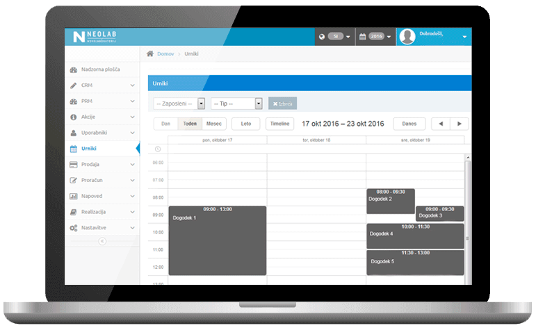 Neolab Budgeting Tool with Scheduler