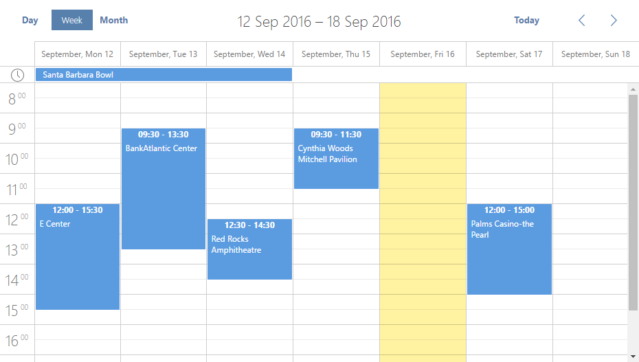 dhtmlxScheduler .NET in Flat skin